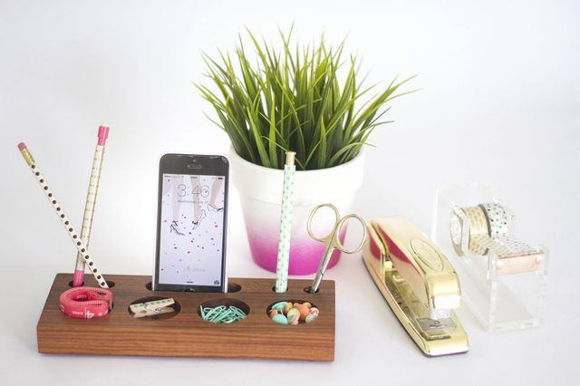 How to Make a Modern Desk Organizer From a Block of Wood | eHow