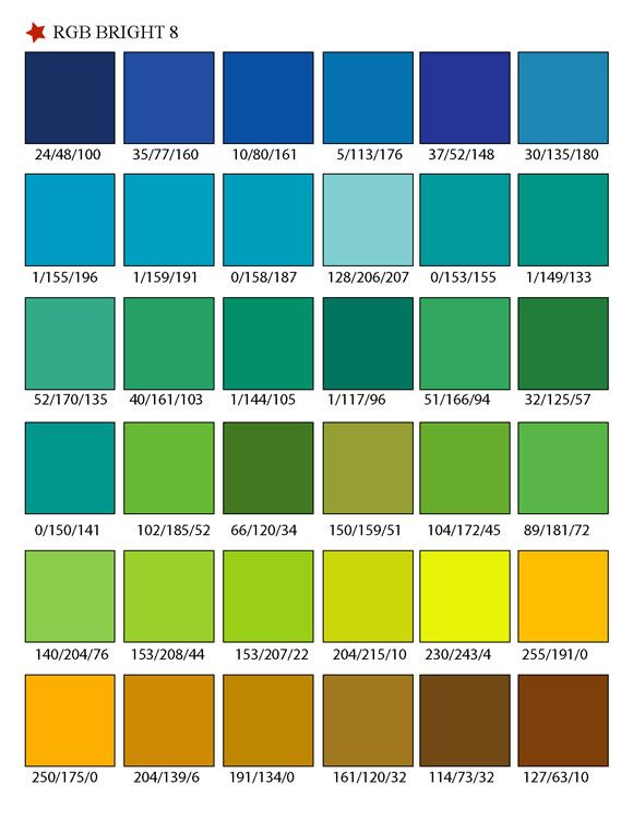 18 best images about TAO Colour Charts RGB Colour Swatches on – Sample Rgb Color Chart
