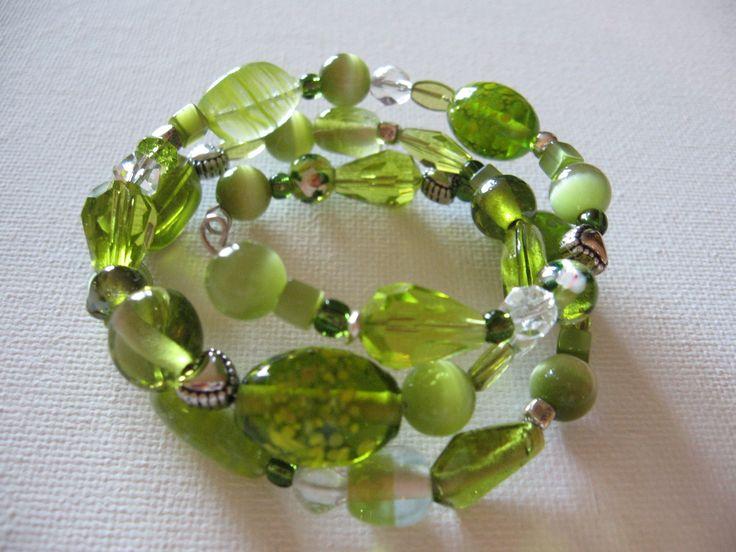 lovely greens - wraparound bracelet