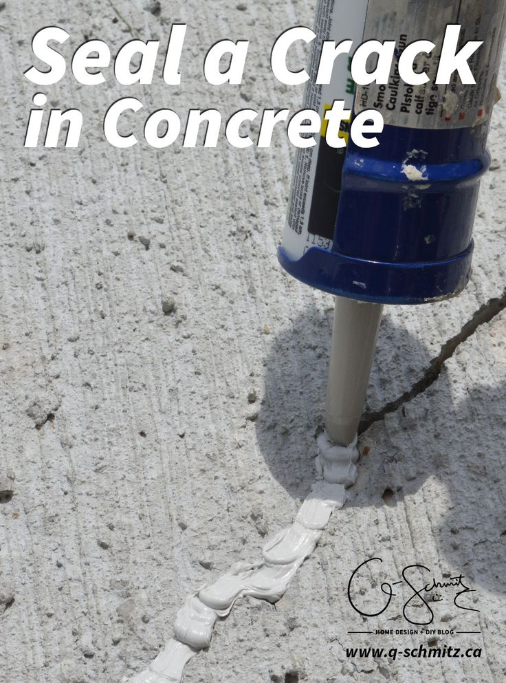 We had poured our concrete late last summer / early fall and I was really worried that it would crack. It did :( Here's the super easy lowdown on how to seal a crack in concrete!