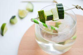 Alcoholvrije en suikervrije cocktail met limoen
