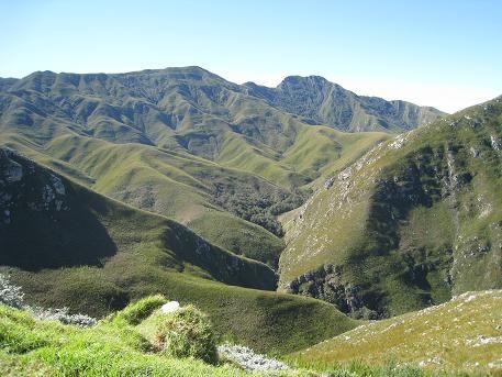 Western Cape landscape Hottentots-Holland Mountains