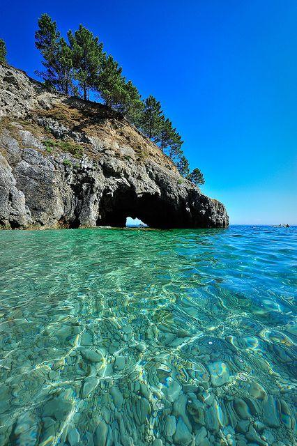 Du bleu et du vert ! | A Saint Hernot, sur la presqu'île de … | Flickr