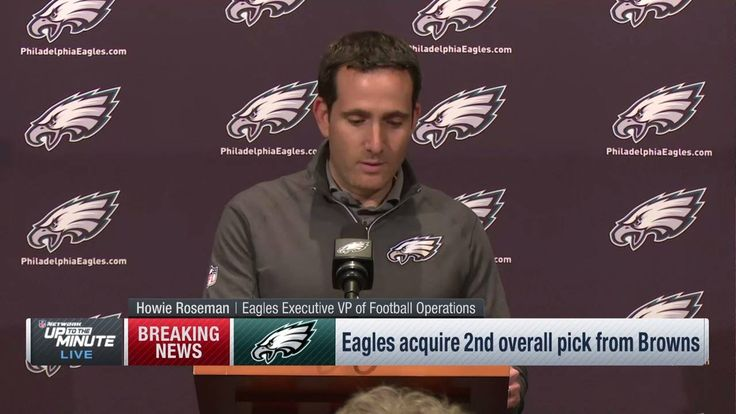 """Sam Bradford is our starting quarterback...""  Howie Roseman addresses the Philadelphia Eagles trading up to #2. #NFLDraft"