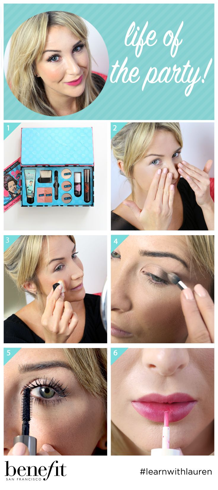 31 best benefit makeup tutorials images on pinterest benefit one kit to achieve the full christmas party makeup look shop to get your life baditri Images