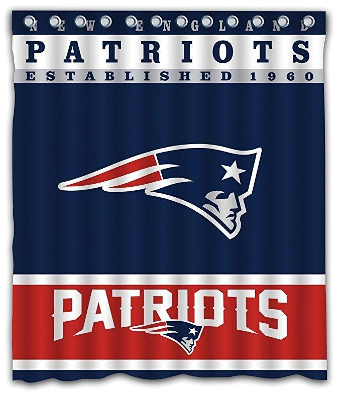 Nfl Football New England Patriots Team Shower Curtain Patriots