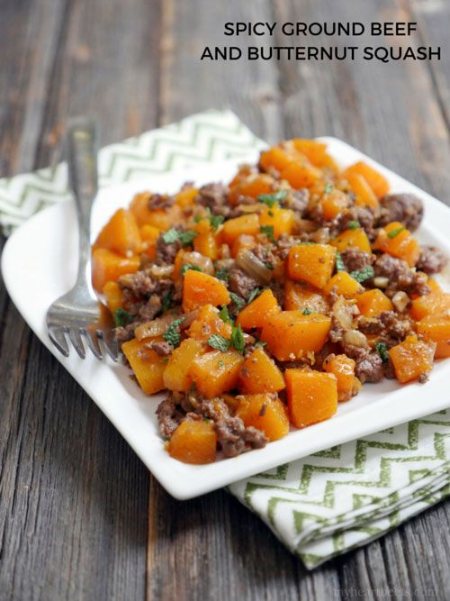 Spicy Ground Beef and Butternut Squash Recipe {Paleo, Whole30, Gluten-Free, Clean Eating}