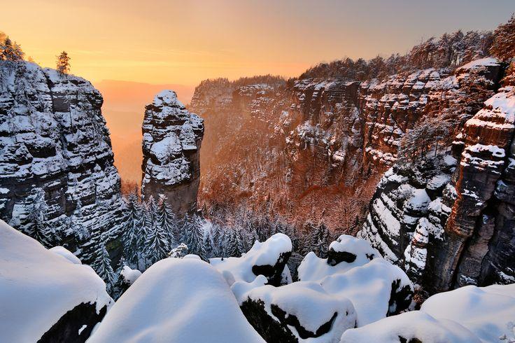 NP České Švýcarsko - zimní Pravčický důl (foto: Pavel Klásek)