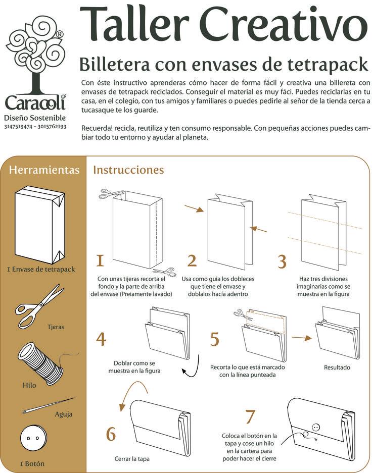 Cómo hacer una Billetera con envases de tetrapack reciclados!