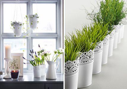 Ensemble auf der Fensterbank - Fensterdeko: Dekoideen für Fenster und Fensterbank 8 - [LIVING AT HOME]