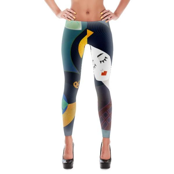 Shapes of Mikado Leggings, All Over Print