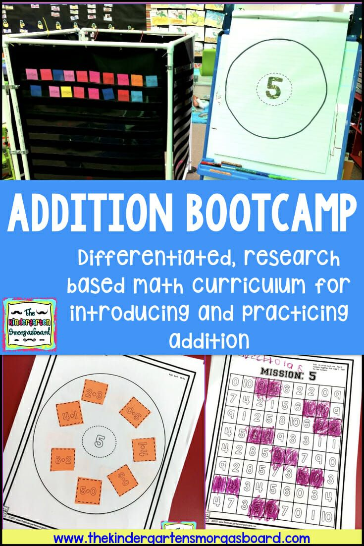 Addition Bootcamp Addition Kindergarten Kindergarten Smorgasboard Teaching Kindergarten Introducing addition in kindergarten