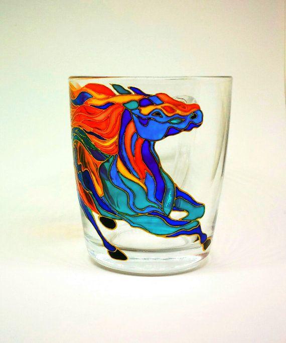 Mug Hand Painted Gift Coffee Tea 70 от ArtGlassCo на Etsy