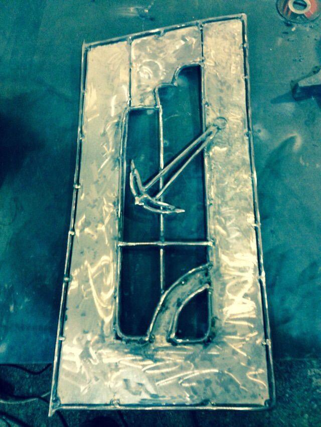 arte y diseo en metal en ejecucin puerta de soporte para peceras o acuarios