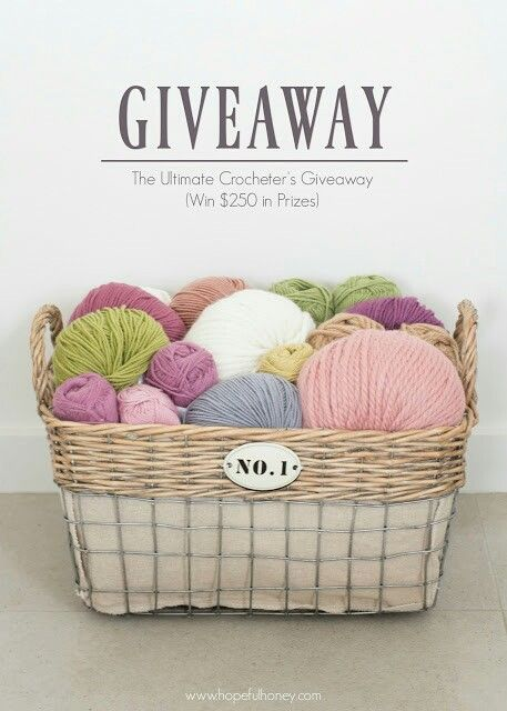 Hopeful Honeys giveaway!  http://www.hopefulhoney.com/2016/09/the-ultimate-crocheters-giveaway-win.html?m=1#comment-form