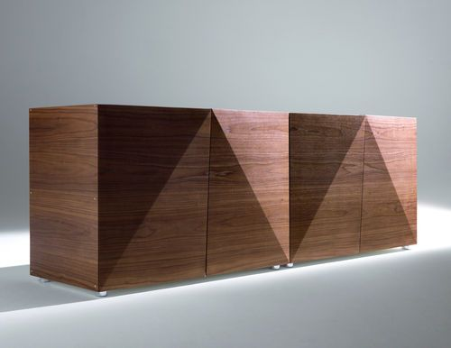 Contemporary wooden sideboard NOT RIDDLED by Steven Holl HORM