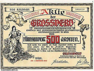 Austria Vienna Grossver�  1922 Litho deko