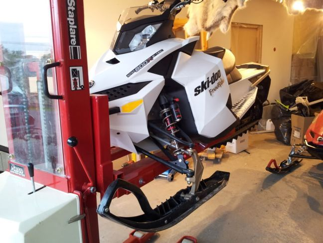Snowmobile Garage Storage : Best motorcycle lifts images on pinterest