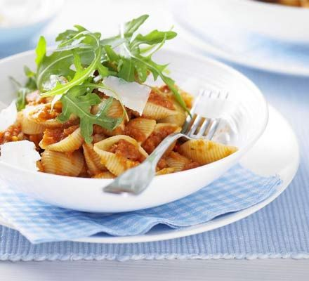 Get your family to eat more veg with this superhealthy pasta sauce recipe which counts as 5 of your 5-a-day. The sauce is freezable too