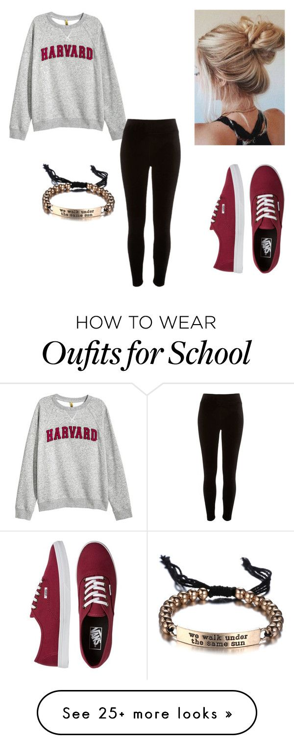 """School Casual"" by okaychloex on Polyvore featuring H&M, River Island and Vans"
