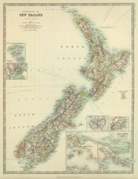 1910 New Zealand Historical Map : The Chart & Map Shop | The Chart & Map Shop