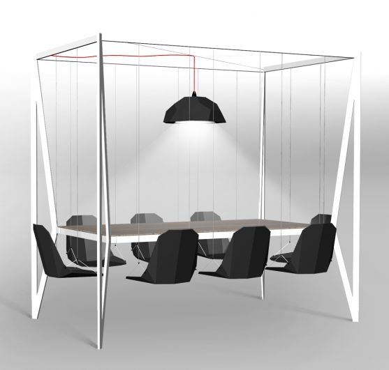 hanging table + chairs