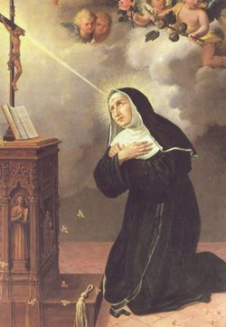 Saint Rita of Cascia, pray for us and lost and impossible causes. Feast day May 22.