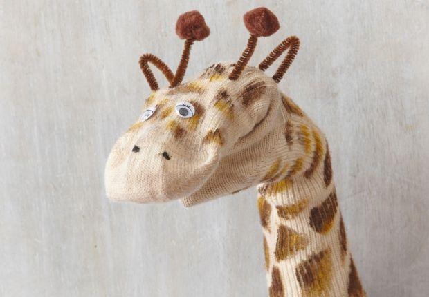 Une marionnette girafe Confectionnez une marionnette girafe