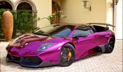 lamborghini chrome purple sports car wont you be mine