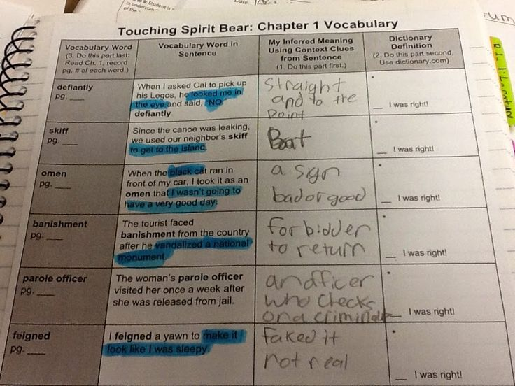 Life in 4B...: Introducing Touching Spirit Bear: Making Predictions & Using Context Clues (L.7.4)