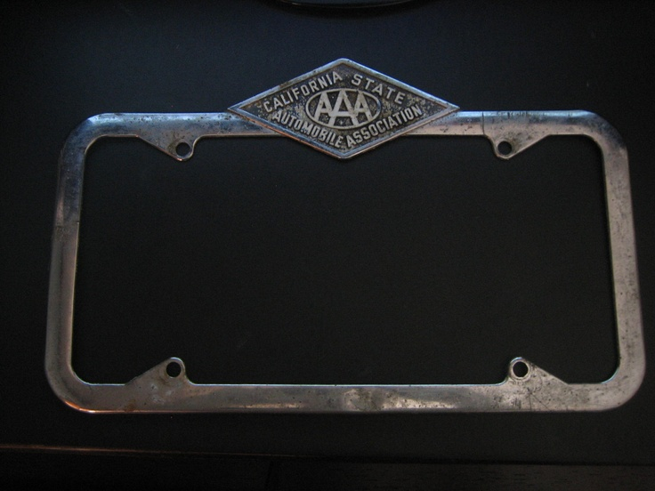 License plate frame from California State Automobile