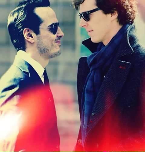 Andrew Scott and Benedict Cumberbatch