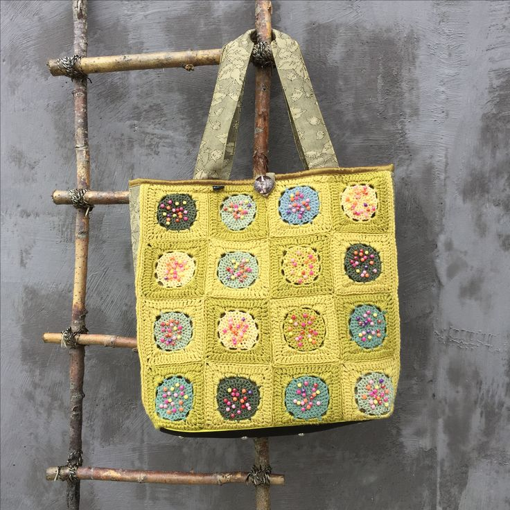 Crocheted bag inspired by Sophie Digard | one of a kind | no pattern