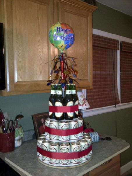 beer cake... Might make a Mountain Dew cake for dad or a red cream soda cake for Eric's birthday