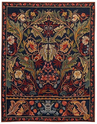 The William Morris Corinthe tapestry wall hanging design (thetapestryhouse.com)