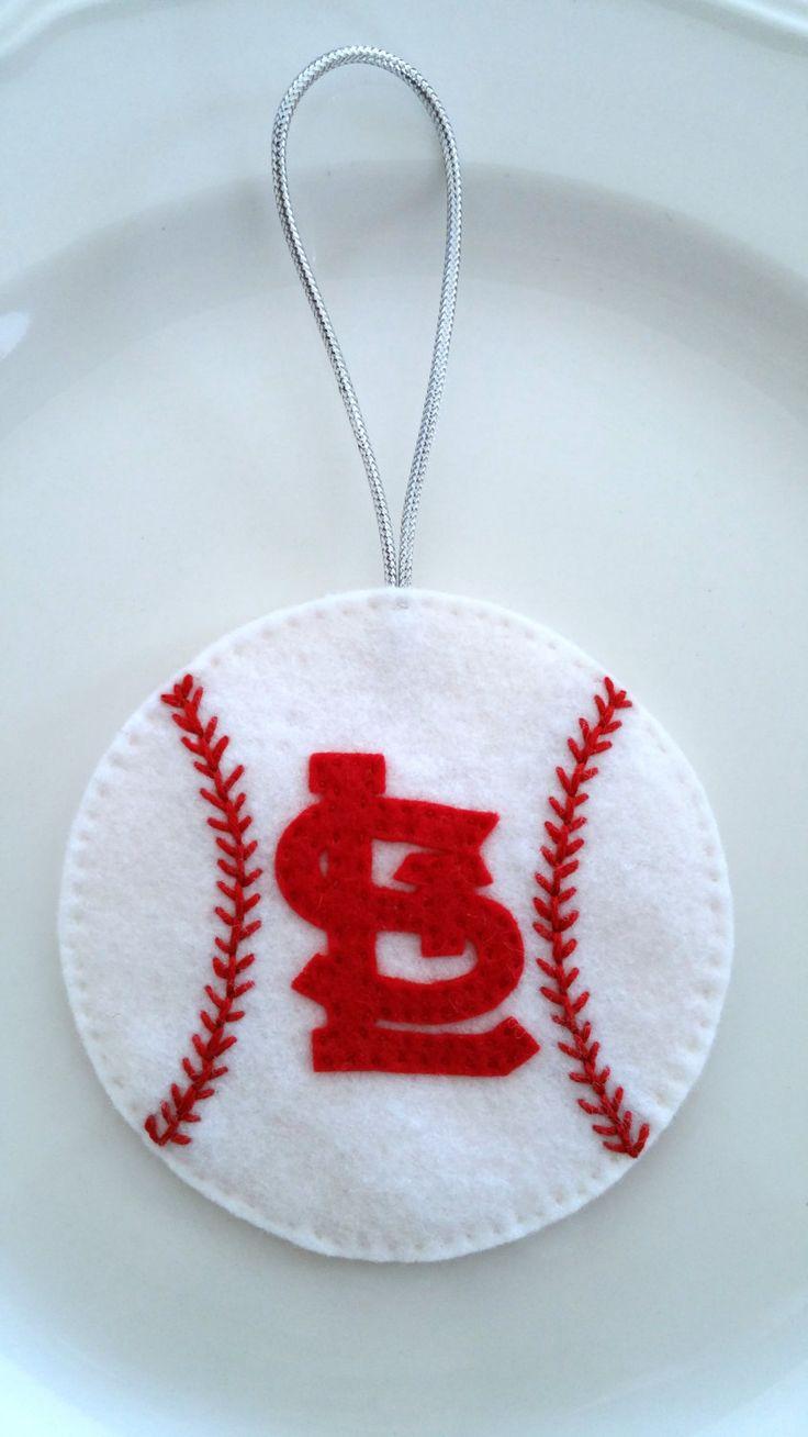 Sports christmas ornaments - Felt Christmas Ornament St Louis Cardinals Baseball Pinned By Pin4etsy Com