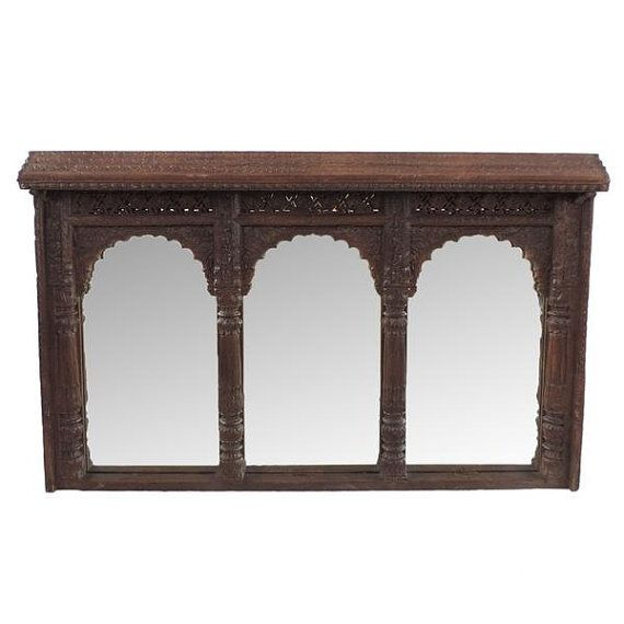 Moorish Triple Arched Mirror Indian Mirror by DeCorPasadena
