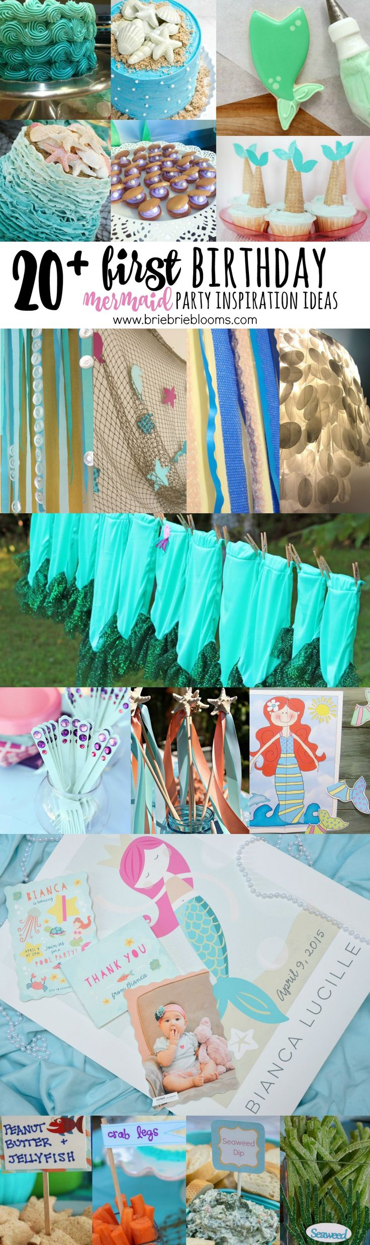 Plan the perfect party with 20+ First Birthday Mermaid Party Inspiration Ideas.