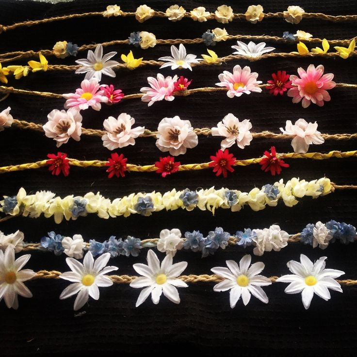 Hippy headbands flower headbands flower crowns by ThePalletGypsy, $12.00