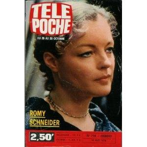 Romy Schneider, dans Télé Poche (n°714) du 17/10/1979 [couverture et article mis en vente par Presse-Mémoire]