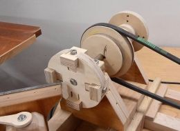 Wood Lathe Chuck - Homemade wood lathe chuck constructed from Baltic birch plywood, threaded rod, Allen bolts, and nuts.