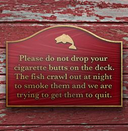 """We'd like to think smokers are more eco-aware these days but some still need a subtle reminder--so why not do it with a bit of humour. It's more likely to change behaviour than the ubiquitous """"no smoking sign""""."""