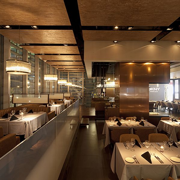 Interior design of flame a fine dining restaurant in
