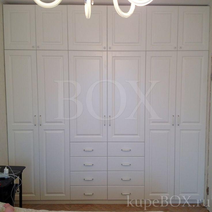 Белый шкаф из МДФ для спальни