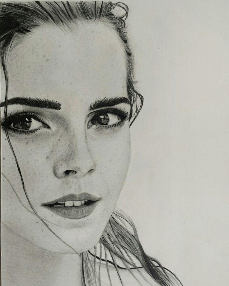 Emma Watson portrait #Emmawatson #portrait #blackandwhite #details