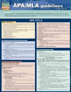 Quick Study Academic APA/MLA Guidelines for Students (Wallchart)