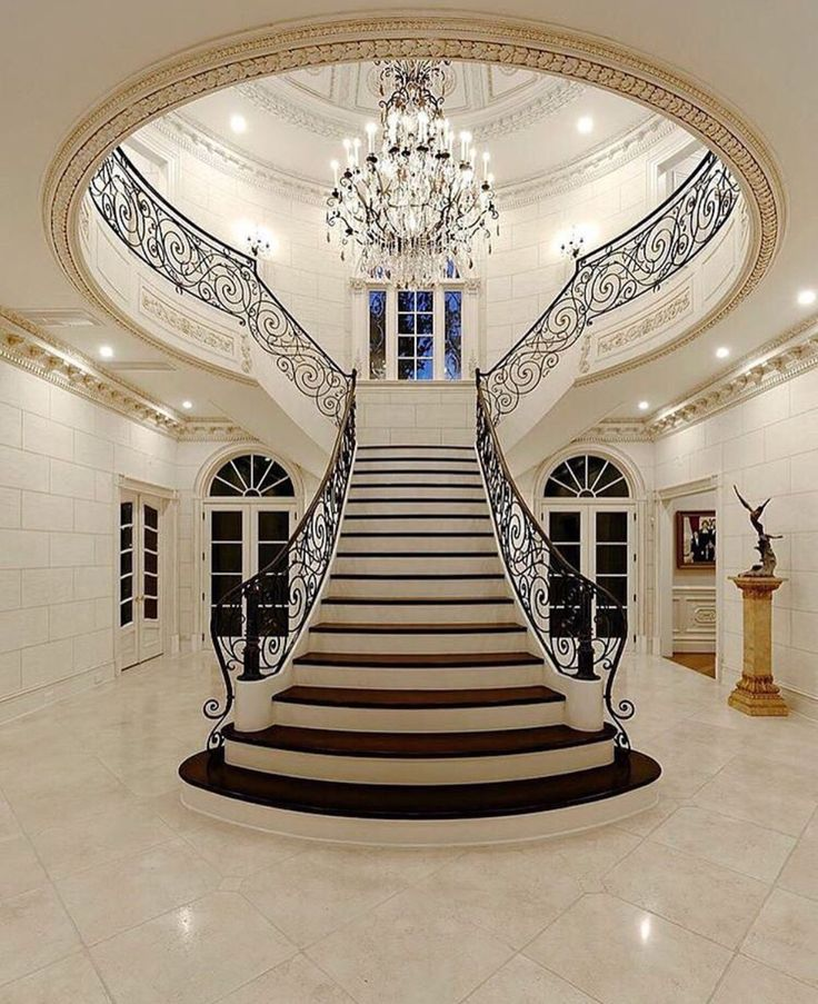 I aspire to have a nice expensive home with a grand entrance.