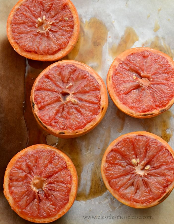 Simple Broiled Grapefruit plus tips on how to cut a grapefruit!