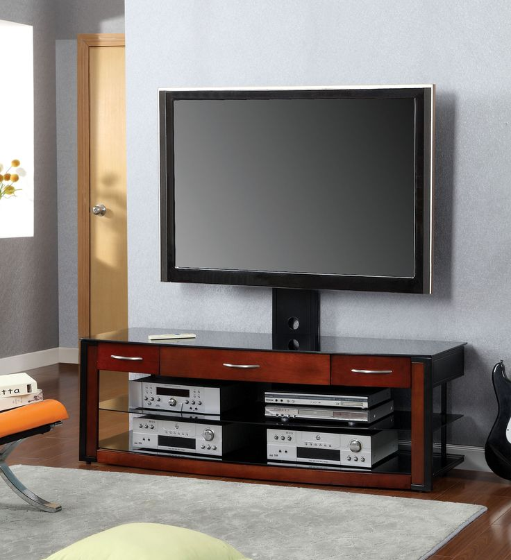 Contino Modern 60u0027u0027 TV Stand with Mount