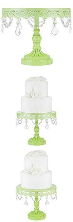 Metal Cupcake Tower. Sophia Collection Lime Green 10 Inch Cake Stand with Crystals, Round Metal Wedding Birthday Dessert Cupcake Pedestal Display.  #metal #cupcake #tower #metalcupcake #cupcaketower